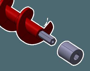 Archimedys™, douille coté extrémité